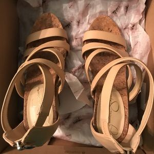 Jessica Simpson Shoes Bassena Sand Dune Wedge Sandals Poshmark